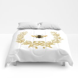 French Bee acorn wreath Comforters