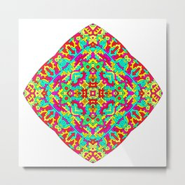Four Owls Mandala Metal Print