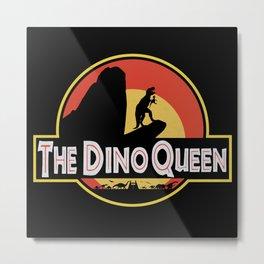 The Dino Queen Metal Print