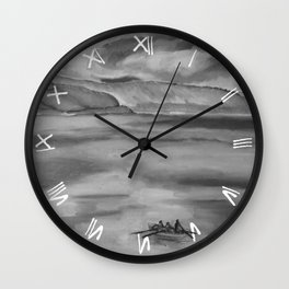 Cold Morning Rowers Wall Clock