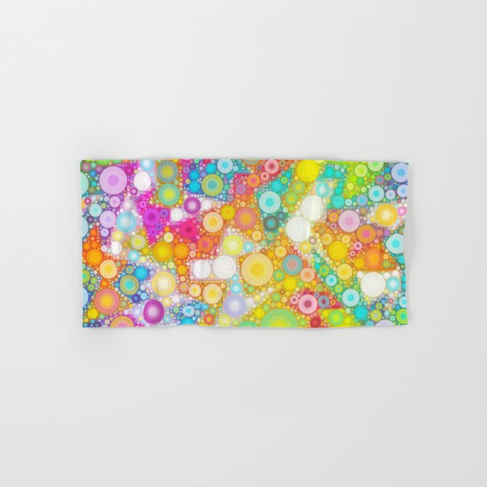 Sunny Bubbles on the Water Hand & Bath Towel