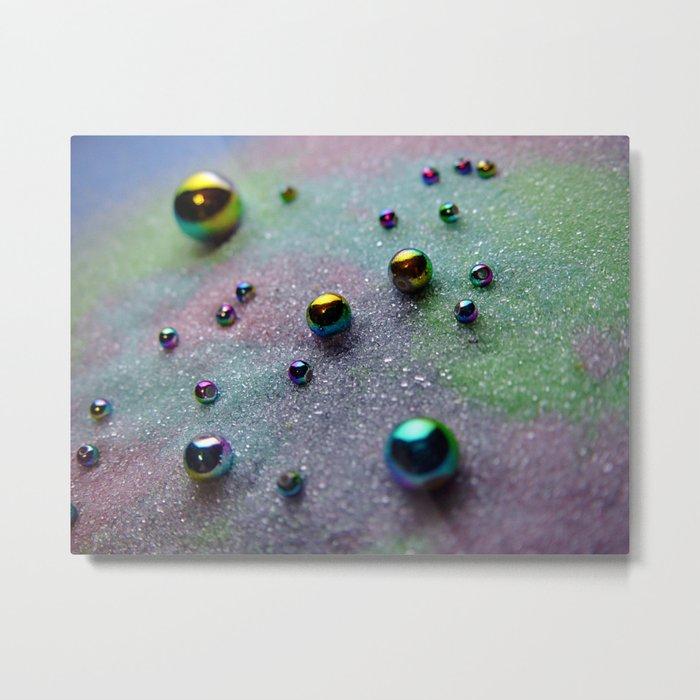 Balls on Sand Colorful Metal Print