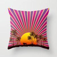 reggae Throw Pillows featuring Sunshine Reggae by A-Devine