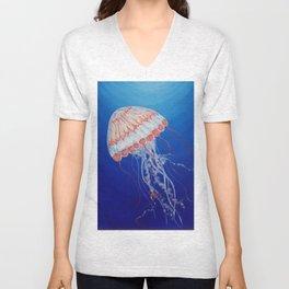 Jellyfish  Oil Painting by Faye Unisex V-Neck