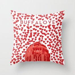 BUFFALOVE Throw Pillow