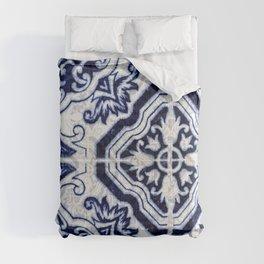 Azulejo VI - Portuguese hand painted tiles Comforters