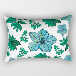 Abstract flowers background Rectangular Pillow
