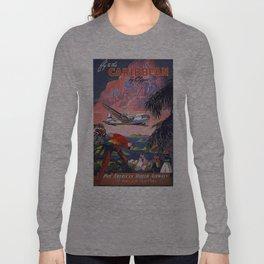 Vintage poster- Caribbean Long Sleeve T-shirt