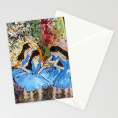 Blue Dancers Stationery Cards