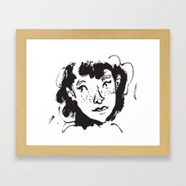 Ink Portrait Framed Art Print