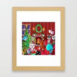 Les TrOnches - Joyeux temps des fêtes ! Framed Art Print