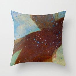 joelarmstrong_rust&gold_man Throw Pillow