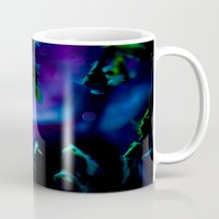 goldfish Mugs featuring goldfish by noirblanc777