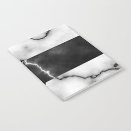 Black and white marble texture 10 Notebook