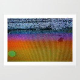 Vice Sunset Art Print