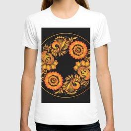 Floral khokhloma folk T-shirt