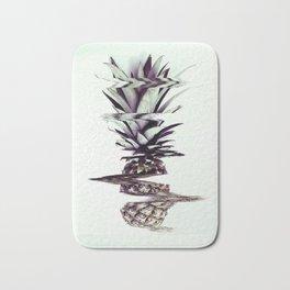 Glitched Pineapple Bath Mat