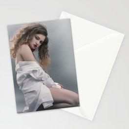 white shirt-20 Stationery Cards