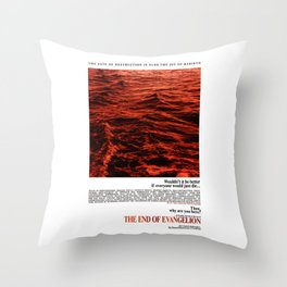 Movie Poster: The End of Evangelion v2 Throw Pillow