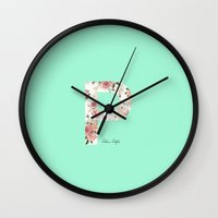 letters Wall Clocks featuring Letters by Paloma