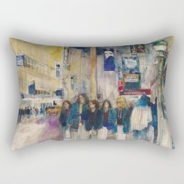 Phantom of the Opera New York Theatre District _ (2014) Watercolor  Rectangular Pillow