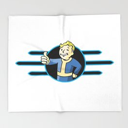 Fallout 4 Vault Boy Thumbs Up Throw Blanket