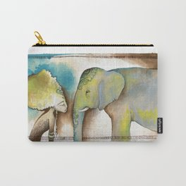 """La mujer y el elefante nunca olvidan"" ~ ""Women and elephants never forget"" Carry-All Pouch"