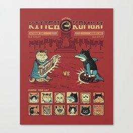 Mutant Kitteh Kombat Canvas Print