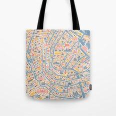 Amsterdam City Map Poster Tote Bag