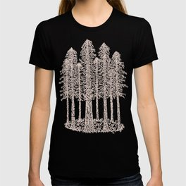 Coastal Redwoods Cathedral Ring Sketch - Red Number 2 T-shirt