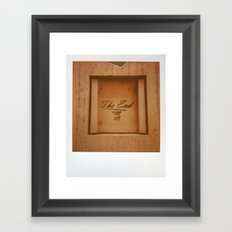 The End Polaroid Framed Art Print