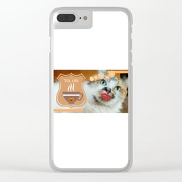 PSL Life Cat Basic Pumpkin Spice Latte Kitty Clear iPhone Case