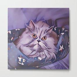 Good Morning Persian Kitten Metal Print