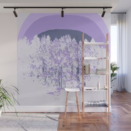 Lavender Mod Trees Wall Mural