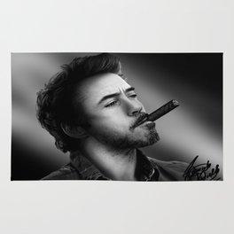 David's Portrait #2 Robert Downey Junior Rug