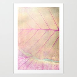 Pink Leaf Abstract Art Print