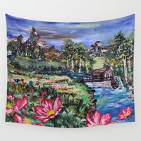 serenity Wall Tapestries featuring Serenity by Art of Leki