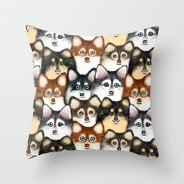 Pomsky Pattern Throw Pillow