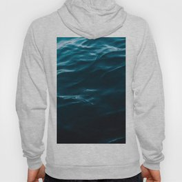 Minimalist blue water surface texture - oceanscape Hoody