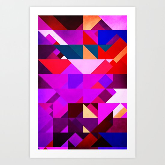 Triangle Violet Art Print