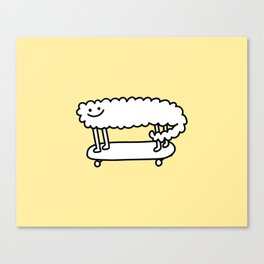 Skater Sheep Canvas Print