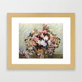Vincent Van Gogh Vase With Roses Framed Art Print