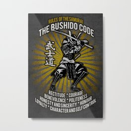 Samurai Bushido Code, Ronin, Musashi Metal Print