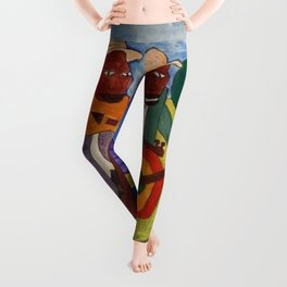 African American Masterpiece 'Sweet Adeline' by William Johnson Leggings