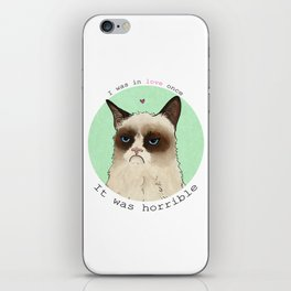 Grumpy cat love iPhone Skin