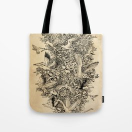 Blooming Flight Tote Bag