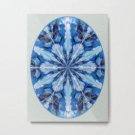Blue Snowflake Metal Print