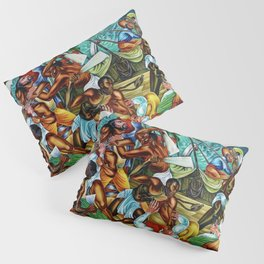 """African American Classical Masterpiece """"The Mutiny on the Amistad"""" by Hale Woodruff Pillow Sham"""