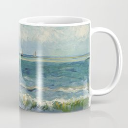 The Sea at Les Saintes-Maries-de-la-Mer by Vincent van Gogh Coffee Mug