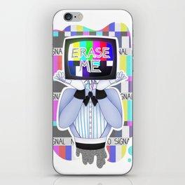 Erase Me iPhone Skin